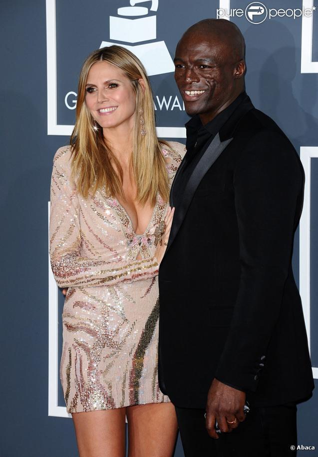Heidi Klum et Seal lors des Grammy Awards le 31 janvier 2010