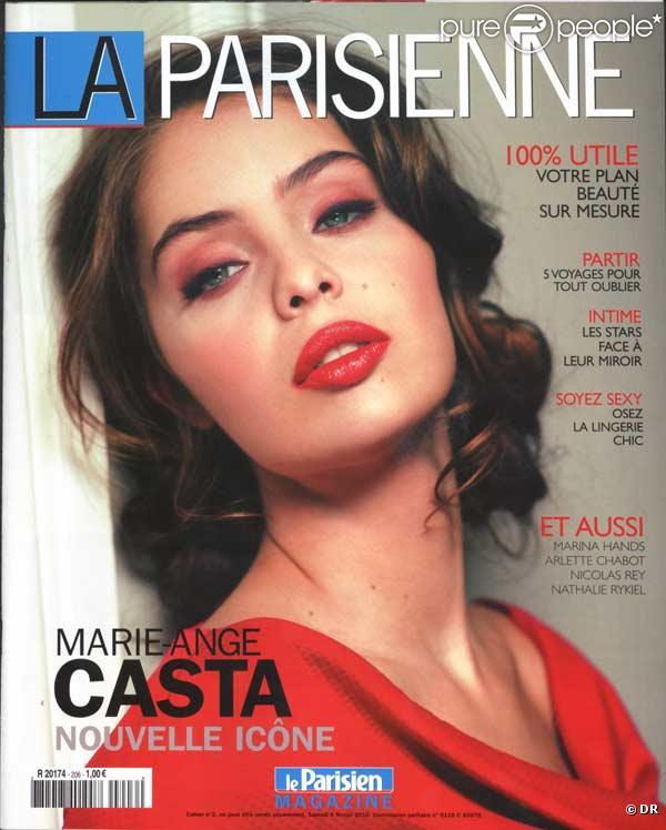 Marie-Ange Casta en couverture de La Parisienne