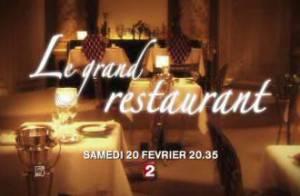 Regardez Claire Keim et André Dussollier, premier couple arrivé... au Grand Restaurant de Pierre Palmade !