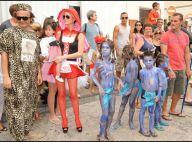 Laeticia Hallyday en Bavaroise, sa petite soeur en lapin, et les adorables Jade et Joy... ont fêté le Carnaval !