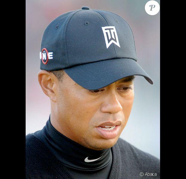 Tiger Woods en juillet 2009 sur un parcours de golf en Angleterre