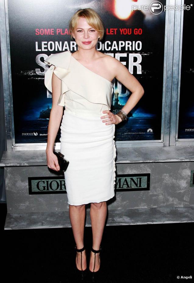 La ravissante Michelle Williams à l'occasion de l'avant-première de Shutter Island, au Ziegfeld Theatre de New York, le 17 février 2010.