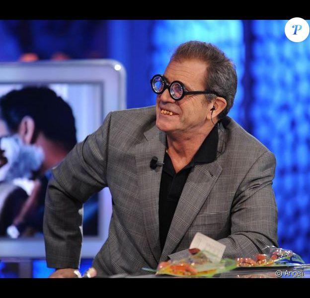 Mel Gibson sur le plateau de l'émission télé espagnole El Hormiguero à Madrid le 24 février 2010