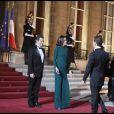 Nicolas Sarkozy et Carlita reçoivent Dmitri Medvedev et son époux à l'Elysée. 02/03/2010