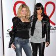Célyne Durand et Karine Lima à la soirée de lancement du Sidaction 2010, le 3 mars, au Casino de Paris.