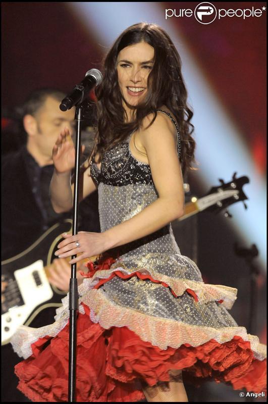 Olivia Ruiz à la cérémonie des 25e Victoires de la Musique, au Zénith, à Paris. 06/03/2010