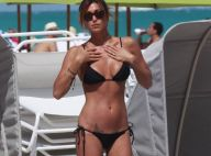 La torride Belen Rodriguez, qui a brisé le mariage d'Ivana Trump... en vacances caliente avec son nouveau boyfriend !
