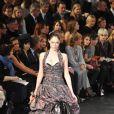 Coco Rocha au défilé Vuitton à Paris le 10 mars