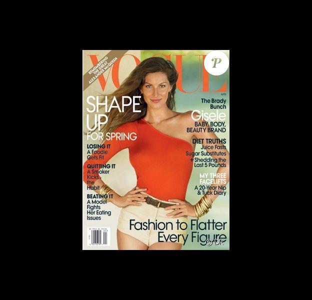 Gisele Bündchen en couverture de Vogue, édition américaine du mois d'avril 2010