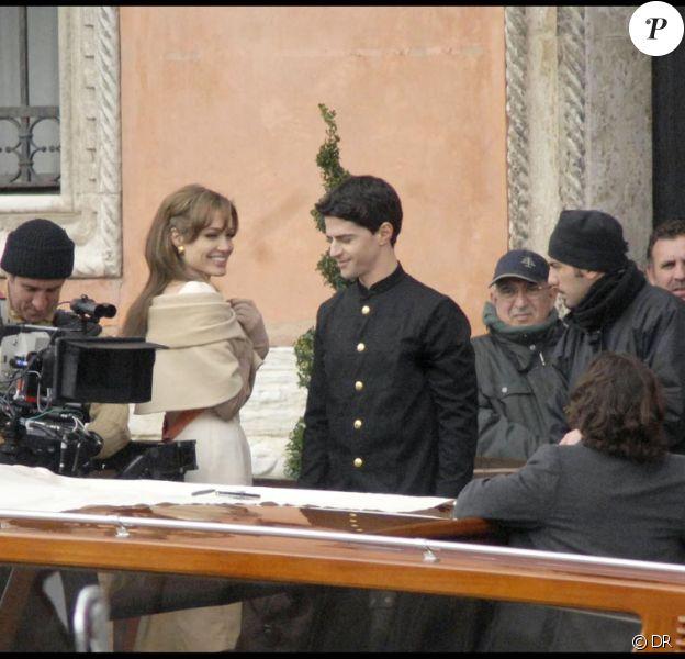 Angelina Jolie et Johnny Depp sur le tournage à Venise