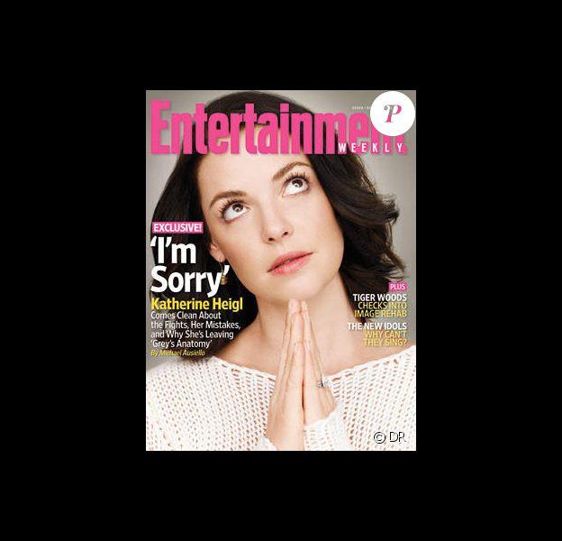 Katherine heigl en couverture de Entertainment Weekly