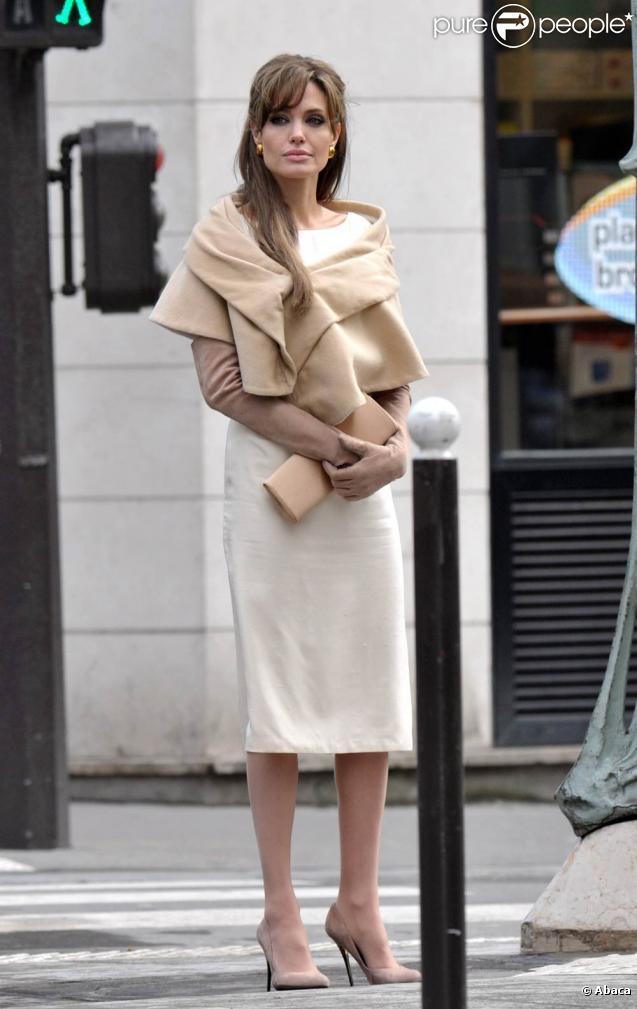 Angelina Jolie sur le tournage de  The Tourist , en Italie, en mars 2010.