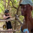Coumba fait confiance à Freddy pour la construction du bivouac (épisode 1/26 mars 2010)
