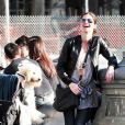 Jill Hennessy et son fils Marco Mastropietro à New York le 19 mars