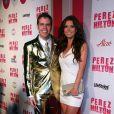 Audrina Patridge et Perez Hilton lors de la fête d'anniversaire des 32 ans de Perez Hilton au Paramount Studios à Hollywood le 27 mars 2010