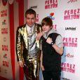 Perez Hilton et Justin Bieber lors de la fête d'anniversaire des 32 ans de Perez Hilton au Paramount Studios à Hollywood le 27 mars 2010