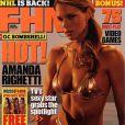 La très jolie Amanda Righetti en couverture de  FHM .