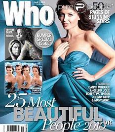 Dannii Minogue en couverture de  Who