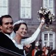 Margrethe II de Danemark (photo : lors de son mariage, en 1967) fêtera le 16 avril ses 70 ans : après avoir inauguré une exposition de ses peintures, elle a procédé à l'arrivée aux flambeaux de la famille royale à Fredensborg !