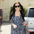 Lindsay Lohan faisant du shopping à Beverly Hills, le 14 avril 2010