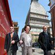 Claudia Cardinale pour son anniversaire à Turin le 15 avril