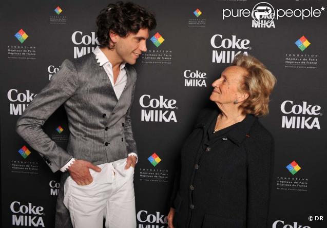 Bernadette Chirac au concert privé de Mika, au 1515 à Paris, le 15 avril 2010 !