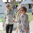 Kelly Osbourne et Luke Worrall lors du festival de Coachella en Californie le 16 avril 2010