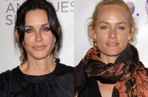 Courteney Cox et Amber Valletta : Neuf ans séparent ces deux beautés mais la ressemblance est frappante !