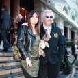Flavio Briatore et sa superbe Elisabetta Gregoraci à l'American Bar de l'Hotel de Paris, à Monte-Carlo, le 24 avril 2010