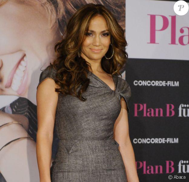 Jennifer Lopez à Cologne en Allemagne pour le photocall du film Le Plan B le 30 avril 2010