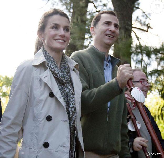 Letizia et Felipe d'Espagne sur la route sainte de Saint Jacques de Compostelle