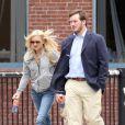 Anna Faris et son époux Chris Pratt, sur le tournage du film  What's your number ? , le mardi 18 mai, à Boston.