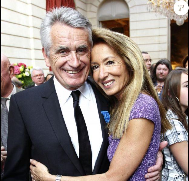 Gilbert Coullier et son épouse Nicole, au palais de L'Elysée, le 20 mai 2010.