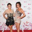 Eva Longoria et Victoria Beckham lors de la soirée LG à Los Angeles le 24 mai 2010.