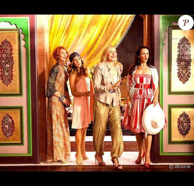 Les quatre copines dans Sex and the City 2.