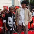 Jaden Smith et Jackie Chan, à l'occasion de l'avant-première de  Karate Kid , à l'AMC River East 21 Theatre de Chicago, le 26 mai 2010.