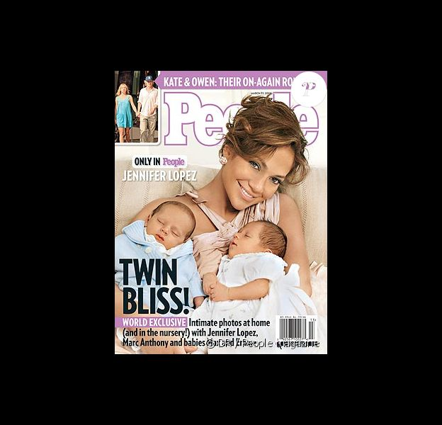 Couverture Jennifer Lopez dévoile le visage de ses jumeaux !