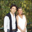 Bruno Madinier et sa femme  lors de la finale Dames de Roland-Garros 2010, le 5 juin 2010