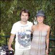 Christophe Dominici et son épouse Loretta lors de la finale Dames de Roland-Garros 2010, le 5 juin 2010