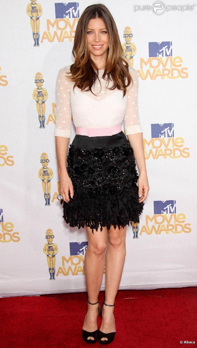 La ravissante Jessica Biel lors des MTV Movie Awards 2010, à Los Angeles, le 6 juin 2010.