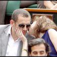 Day Boon et sa femme Yaël lors de la finale hommes à Roland Garros le 6 juin 2010
