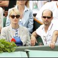 Judith Godrèche et Maurice Barthélémy lors de la finale hommes à Roland Garros le 6 juin 2010