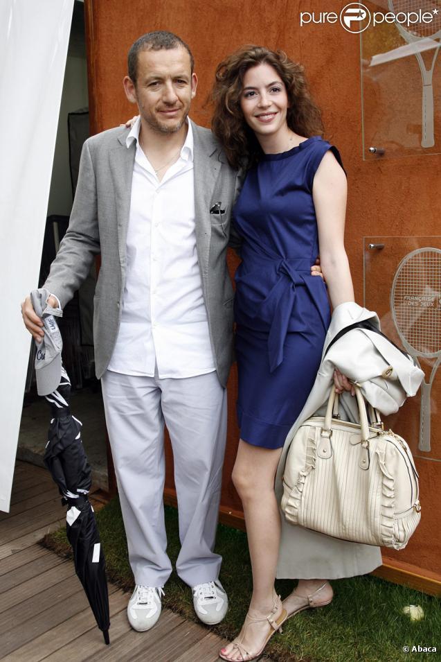 Dany Boon et sa femme Yaël lors de la finale hommes de Roland-Garros le 6 juin 2010