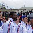 Les Bleus visitent un towship de Knysna le 13 juin 2010