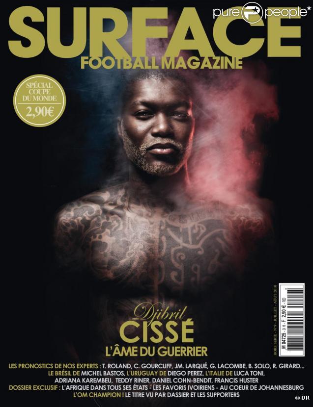 Djibril Cissé, en une du magazine Surface, actuellement en kiosques.