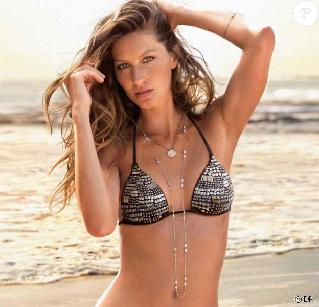 Gisele Bündchen sublime dans la nouvelle campagne de pub de la marque Calzedonia