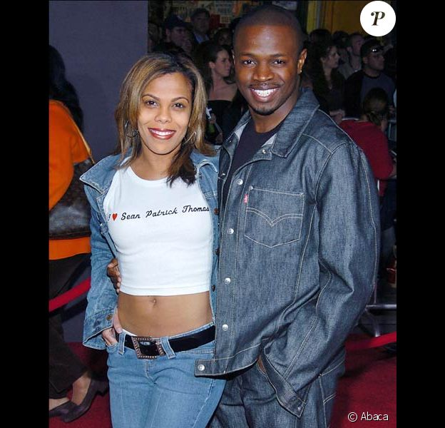 Sean Patrick Thomas et sa femme Aonika Laurent Thomas en mars 2004 à Los Angeles