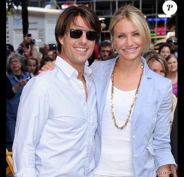 Cameron Diaz et Tom Cruise arrivent sur le plateau de l'émission Good Morning America, à New York. 22/06/2010