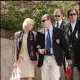 Albert Grimaldi et Charlene Wittstock à la Coupe Davis, le 13/04/08.