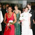 Charlene Wittstock, Stéphanie de Monaco et Caroline de Monaco au gala de la Croix-Rouge 2006.